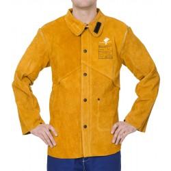 Veste Golden Brown™ en cuir croûte bovin avec dos en...