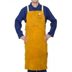 Tablier Golden Brown™ en cuir croûte bovin